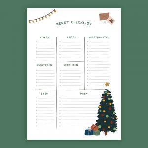 Kerst Checklist