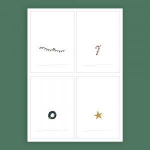 Kerst Tafelkaartjes