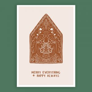 Kerstposter 'Merry Everything & Happy Always'