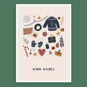 Kerstposter 'Warm Wishes'